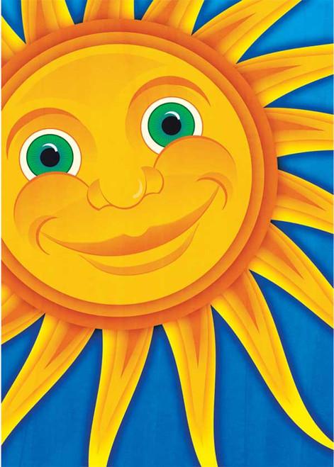Smiling Sun - Garden Flag by Toland