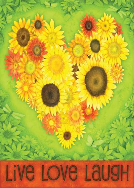Sunflower Heart - Garden Flag by Toland