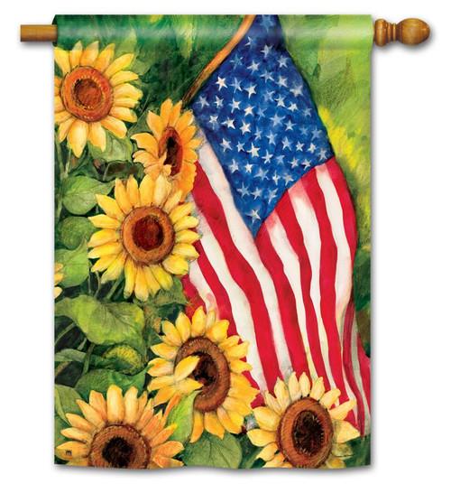 American Sunflowers Garden Flag