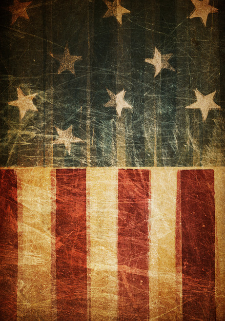 Vintage Stars and Stripes - Garden Flag by Serious