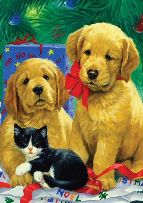 Golden Puppies - Garden Flag by Toland