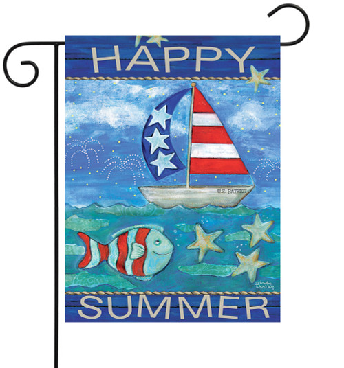 Happy Summer - Small Garden Flag by Lang
