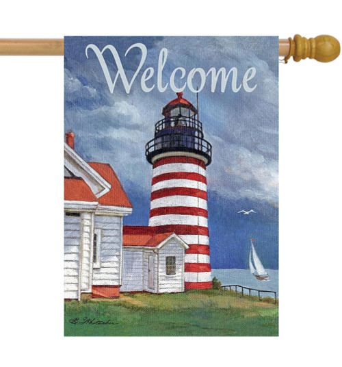 Lighthouse - Large Garden Flag by Lang