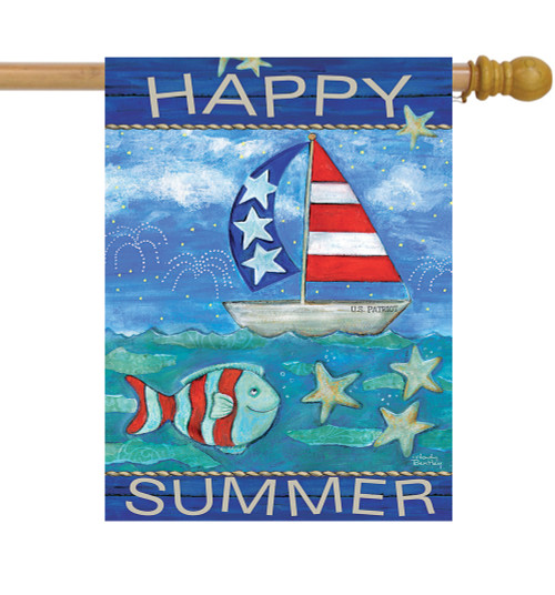 Happy Summer - Large Garden Flag by Lang