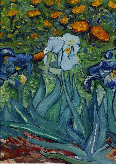 Van Gogh's Iris - Garden Flag by Toland
