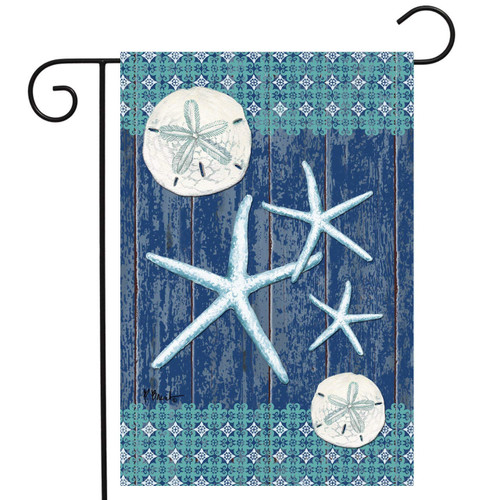 Sand Dollars and Sea Stars - Garden Flag by Toland