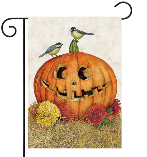 Happy Jack-o'-lantern - Small Garden Flag by Lang