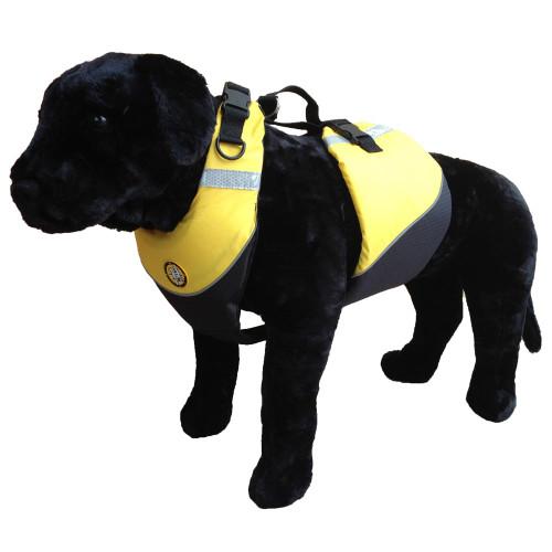 First Watch Flotation Dog Vest - Hi-Visibility Yellow - Medium [AK-1000-HV-M]