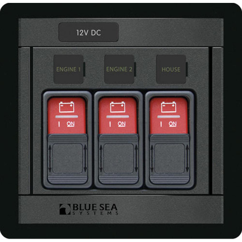 Blue Sea 1148 Remote Control Panel w\/(3) 2145 Remote Control Contura Switch [1148]