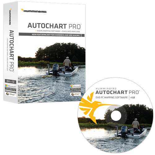 Humminbird AutoChart PRO DVD PC Mapping Software w\/Zero Lines Map Card [600032-1]