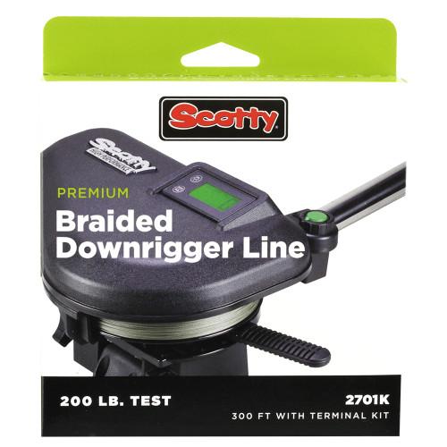 Scotty Premium Power Braid Downrigger Line - 300ft of 200lb Test [2701K]