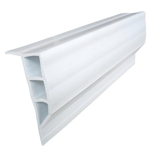 Dock Edge Standard PVC Full Face Profile - 16' Roll - White [1160-F]