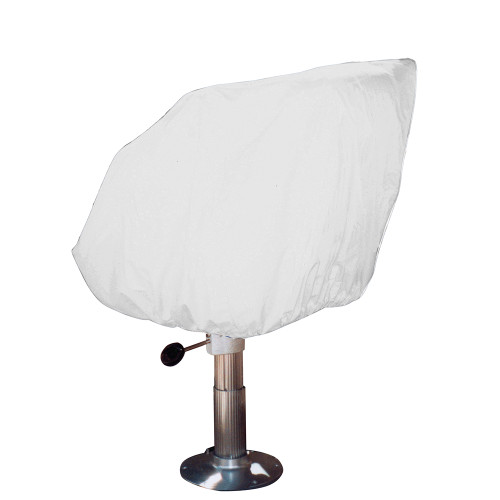 Taylor Made Helm\/Bucket\/Fixed Back Boat Seat Cover - Vinyl White [40230]