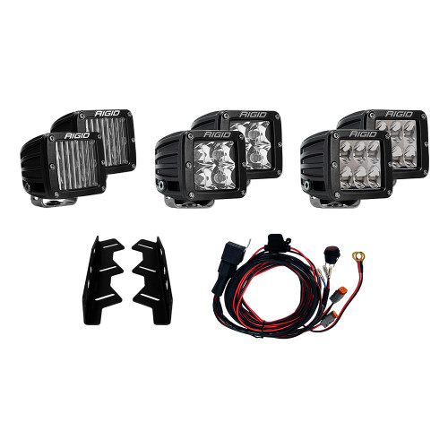 Rigid Industries 2017-2018 Ford Raptor Triple Fog Light Kit [41610]