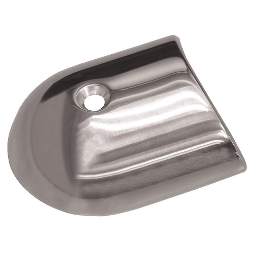 TACO Polished Stainless Steel 2-19\/64 Rub Rail End Cap [F16-0091]
