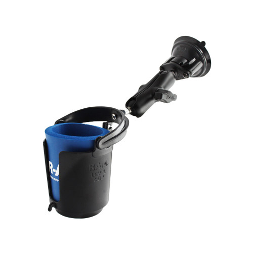 RAM Mount Drink Cup Holder w\/Suction Base [RAM-B-132SU]