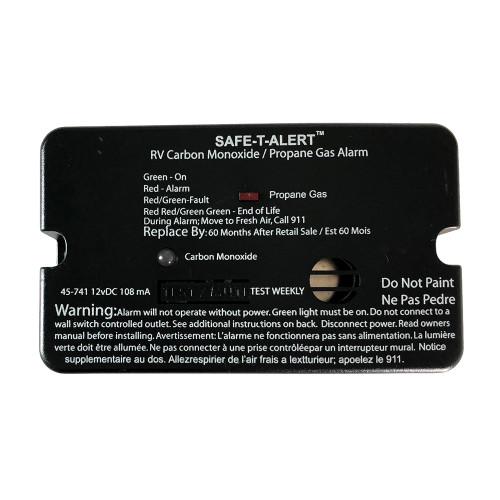 Safe-T-Alert 45-Series Combo Carbon Monoxide Propane Alarm Surface Mount - Black [45-741-BL]