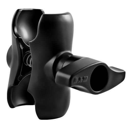 "RAM Mount Double Socket Short Arm w\/Jam Nut f\/2.25"" Base [RAM-D-201U-C-MI1]"