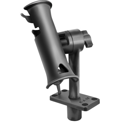 "RAM Mount RAM Tube Jr. Fishing Rod Holder w\/Standard 6"" Length Post Spline & Flush Mounting Base [RAP-390-FU]"