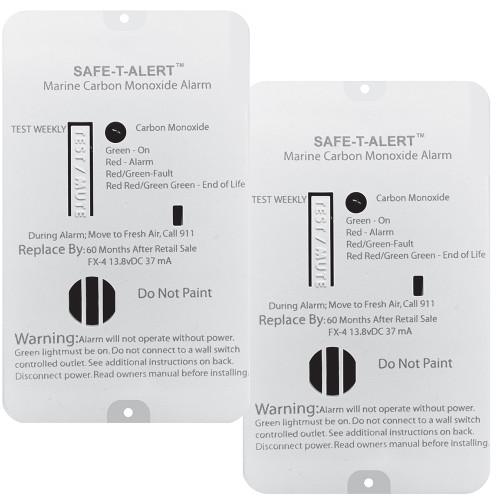 Safe-T-Alert FX-4 Carbon Monoxide Alarm - 2-Pack [FX-4MARINE2-PACK]