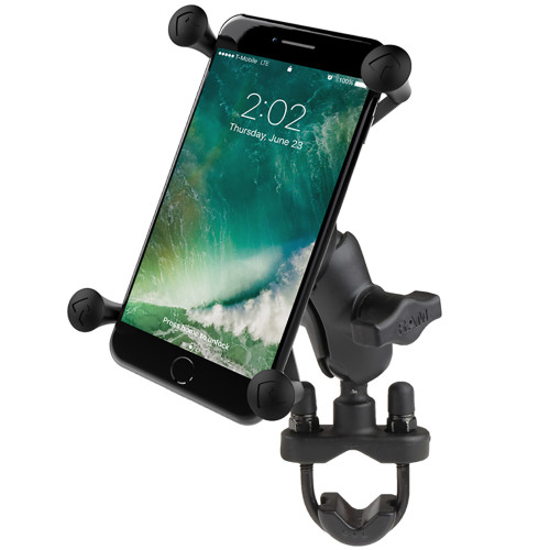 RAM Mount X-Grip Large Phone Mount w\/Handlebar U-Bolt Base [RAM-B-149Z-A-UN10U]