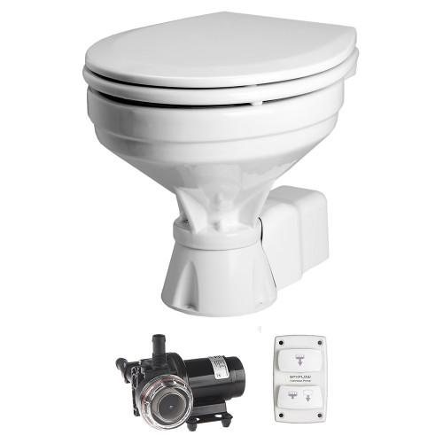 Johnson Pump Aqua T Toilet - Electric - Comfort - 12V w\/Solenoid [80-47232-03]