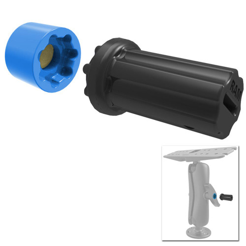 RAM Mount Mixed Combination Pin-Lock Security Nut & Key Knob f\/2.25""\/3.38"" Diameter D/E Size Arms [RAP-S-NUT5U]500|500|?|False|43ad3b74d46b4753a4ab8eb4b54fc67c|False|UNLIKELY|0.30732160806655884