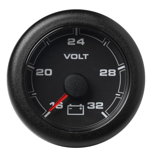 "VDO 2-1\/16"" (52MM) OceanLink Battery Voltage 16  32 V Black Dial  Bezel [A2C1066120001]"
