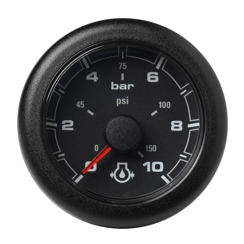 "VDO 2-1\/16"" (52MM) OceanLink Engine Oil Pressure 10 Bar \/ 150 PSI Black Dial  Bezel [A2C1066000001]"