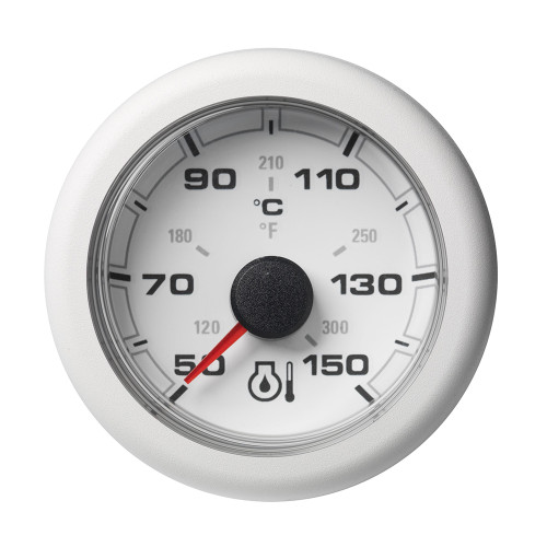 "VDO 2-1\/16"" (52mm) OceanLink Engine Oil Temperature 150 C \/ 300 F - White Dial  Bezel [A2C1065860001]"