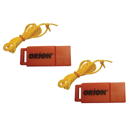 Orion Safety Whistle w\/Lanyards - 2-Pack [676]
