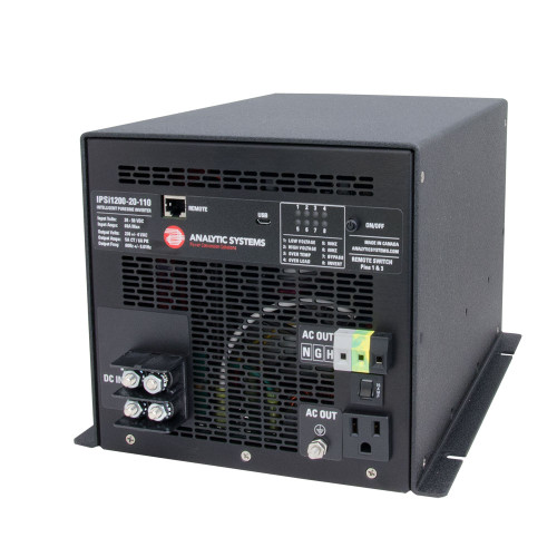 Analytic Systems AC Intelligent Pure Sine Wave Inverter 1200W, 20-40V In, 110V Out [IPSI1200-20-110]