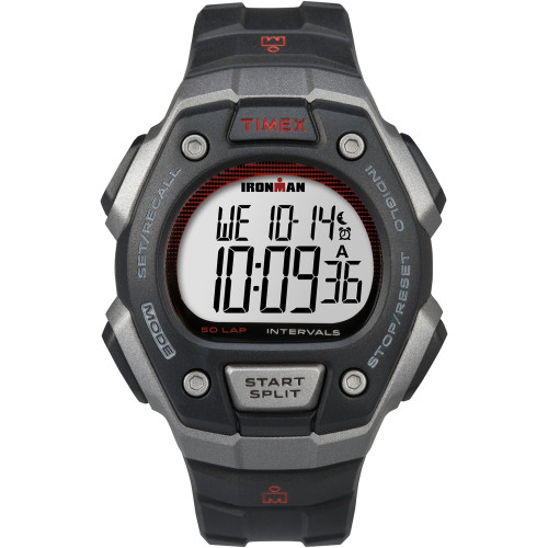 Timex Ironman Classic 50-Lap Full-Size Watch - Silver\/Red [TW5K85900]