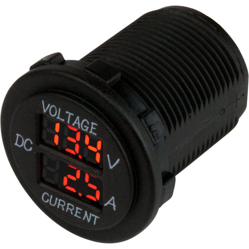 Sea-Dog Round Voltage  Amp Meter - 6V-30V  0 Amp - 10 Amp Meter [421625-1]