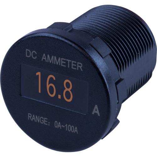Sea-Dog Round OLED DC Amp Meter - 0 Amp-100 Amp [421620-1]