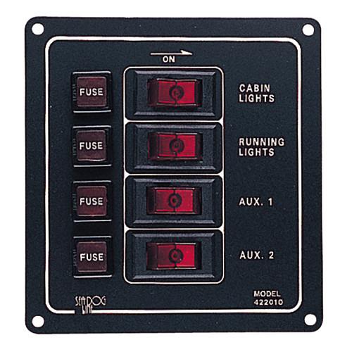 Sea-Dog Aluminum Switch Panel - Vertical - 4 Switch [422010-1]