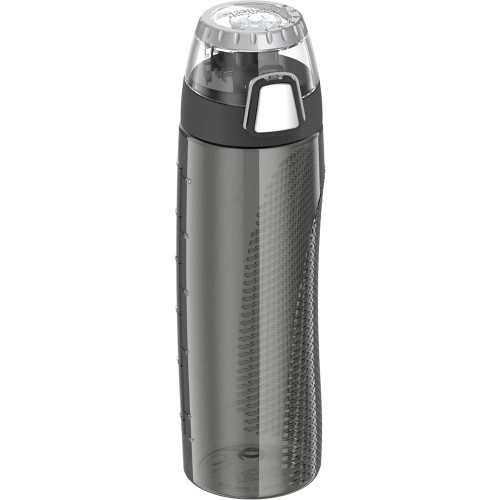 Thermos Hydration Bottle w\/Rotating Intake Meter - BPA Free - 24oz - Smoke [HP4000SMTRI6]