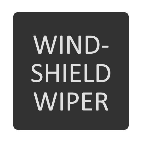 Blue Sea 6520-0449 Square Format Windshield Washer Label [6520-0449]