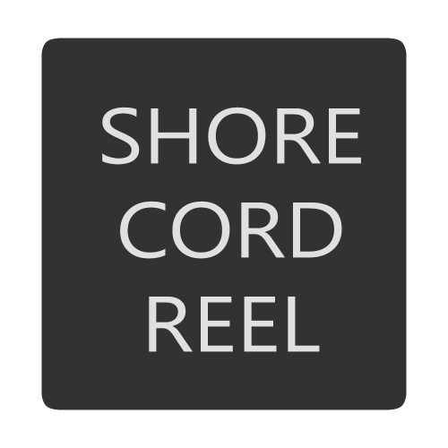Blue Sea 6520-0382 Square Format Shore Cord Reel Label [6520-0382]