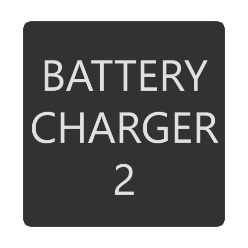 Blue Sea 6520-0051 Square Format Battery Charger 2 Label [6520-0051]