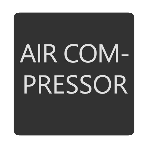 Blue Sea 6520-0025 Square Format Air Compressor Label [6520-0025]
