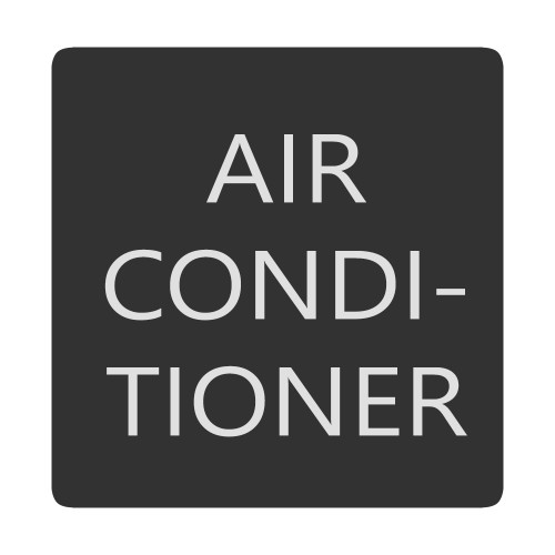 Blue Sea 6520-0026 Square Format Air Conditioner Label [6520-0026]