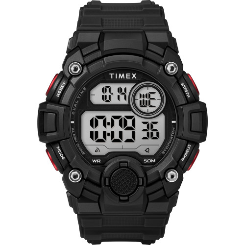 Timex Mens A-Game DGTL 50mm Watch - Black\/Red [TW5M27600JV]