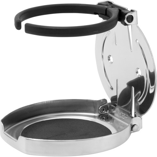 Sea-Dog Adjustable Folding Drink Holder - 304 Stainless Steel [588250-1]