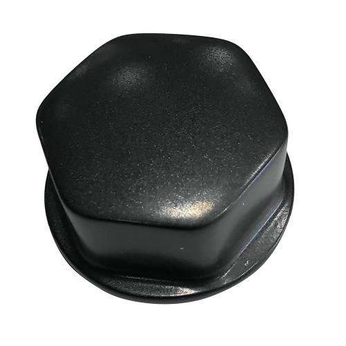 "Schmitt  Ongaro Faux Center Nut Black w\/1\/2""  5\/8"" M12 Base f\/Cast Steering Wheels [CAP030B]"