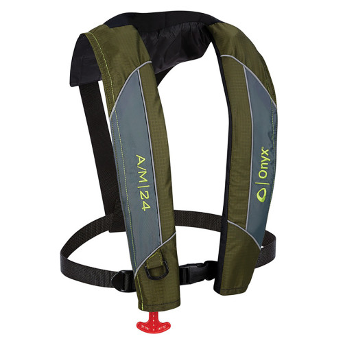 Onyx A\/M-24 Automatic\/Manual Inflatable PFD Life Jacket - Green [132000-400-004-18]