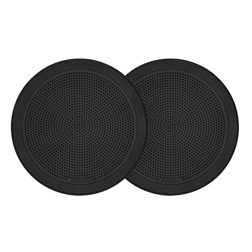 "FUSION FM-F65RB FM Series 6.5"" Flush Mount Round Marine Speakers - Black Grill - 120W [010-02299-01]"