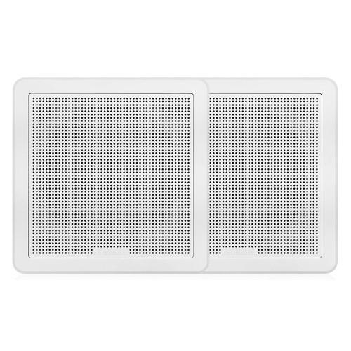 "FUSION FM-F77RW FM Series 7.7"" Flush Mount Square Marine Speakers - White Grill - 200W [010-02300-10]"