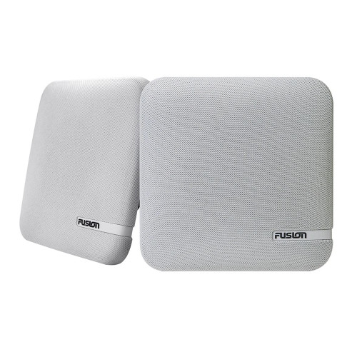 """FUSION SM-F65CW SM Series 6.5"""" Shallow Mount Square Speakers - White Cloth Grill - 100W [010-02263-10]"""