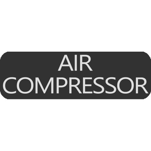 Blue Sea 8063-0025 Large Format Air Compressor Label [8063-0025]